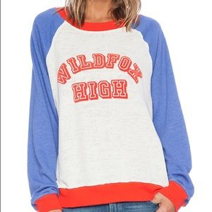 Wildfox High Sweatshirt in Vintage Lace